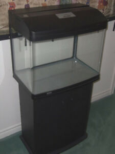Aquarium 23.5 Gallon, Canopy, Light & Biological Filter, Cabinet