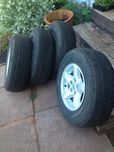 Jeep Rims and Tires- 225/75/R15