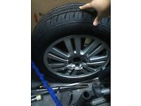 Ford C-Max alloy wheel with new tyre