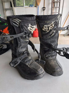 Fox Youth Dirtbike Boots, Size 3