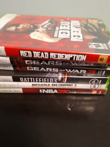 6 xbox 360 games all for $10