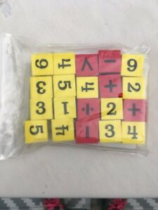 Numbers and operations dice