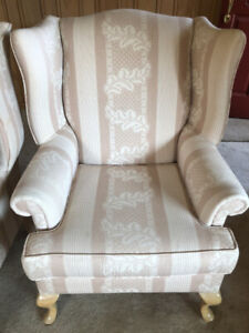 Pair of wingback lounge chairs. Great condition.