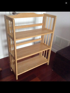 Great Used Condition Folding Real Wood Shelf Smoke&Pet Free Home