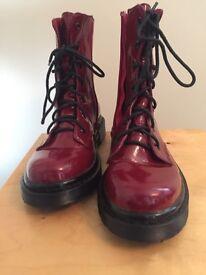 Girls Doc Martin Type Boots