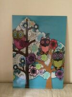 Cadre hiboux Owl wall art