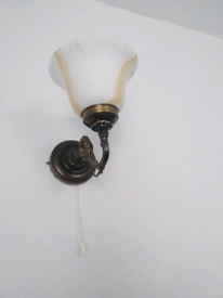 A pair of wall lights.