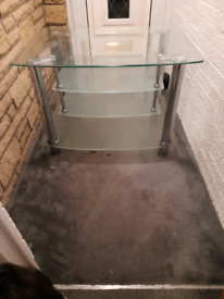 STYLISH TV GLASS UNIT FREE LOCAL DELIVERY