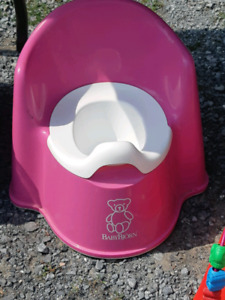 Pink potty and infant mat with net
