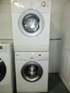 WHIRLPOOL.  24 inches.  Set washer and dryer.