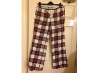 Jack Wills Checked Loungepants Size 10