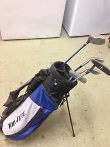Kids Carrying Golf bag and club set