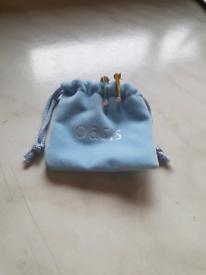 Silver Diamonte Earrings From Oasis
