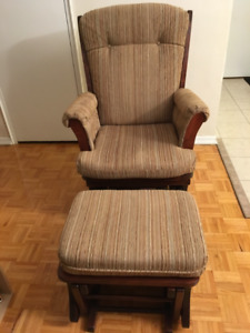 Amish Glider Rocker and Ottoman