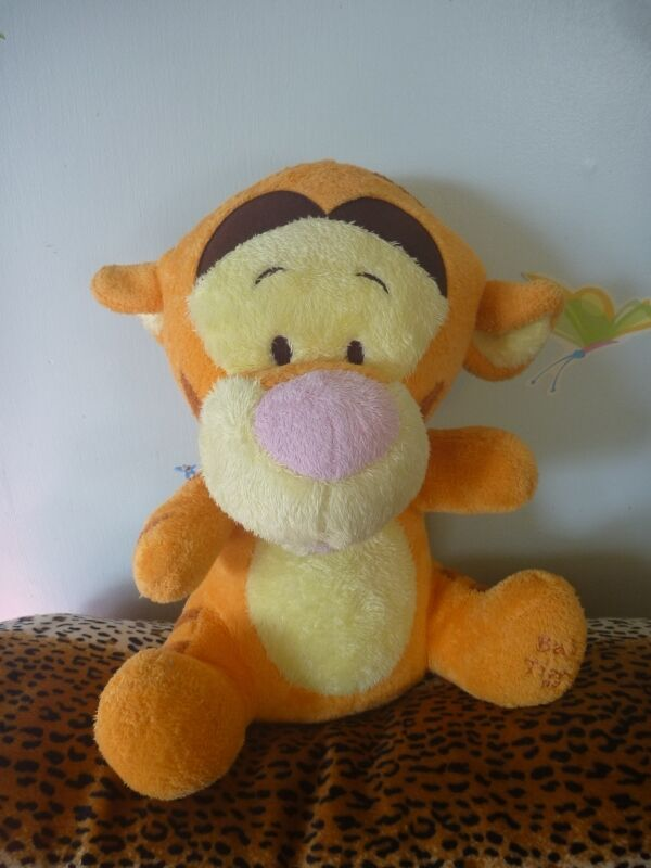 "LARGE 15"" Baby Tigger stuffed plush Disney Baby Winnie the Pooh Ocean toys B4"