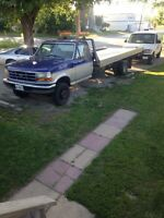 1997 f450 flatbed towtruck