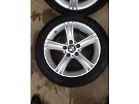 "BMW 3 SERIES F30/31/32 ""17"" STAR SPOKE 393 ALLOY WHERLS AND TYRES"