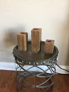Barn Wood Candles with Character