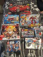 LOTS OF LEGO SETS, STAR WARS, CITY, BIONICLE, ETC
