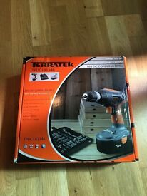 Terratek 18V Cordless Drill Kit, Variable Speed Electric Screwdriver