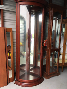 two high end china cabinets