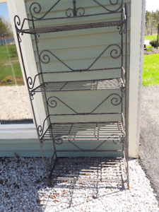 Heavy metal indoor/outdoor rack-shelf