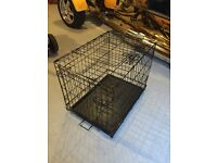Small x2 dog crate suit terrier or pup