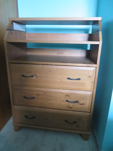Dresser with change table