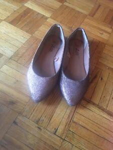 Copper sparkle shoes