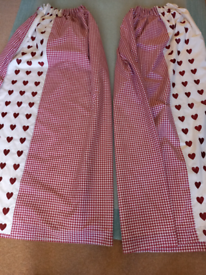 Curtains red gingham hearts range***LIMITED EDITION***