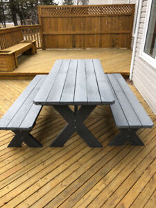 New Plastic Picnic Table and Benches