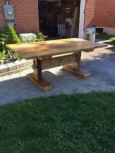Hand made harvest table
