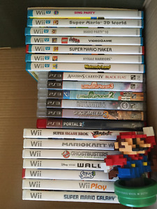 Play station/Wii/Wii U games- Excellent condition