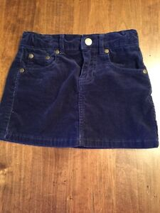 Roots Navy Blue Corduroy Skirt. Size 7