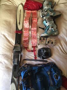 Tele ski set up for small women