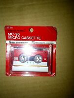 Microcassettes for answering machines or tape recorders