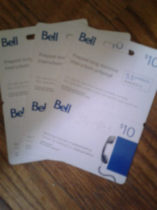 Prepaid $10 Bell Long Distance Card