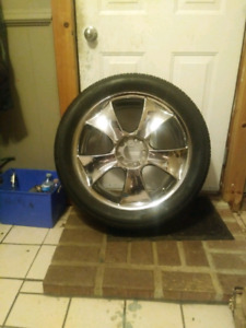 "19"" chrome alba bank rims and tires"