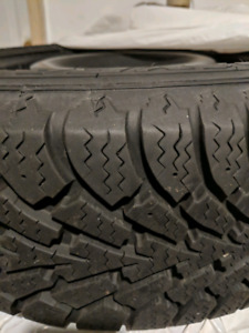 Used Goodyear Nordic Winter Tires 195/60 R15 88S on rims