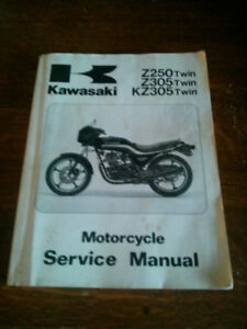 Black 1988 KZ-305 Twin Motorcycle for Sale