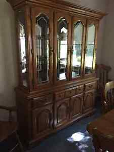 Solid Oak Display Cabinet London Ontario image 1