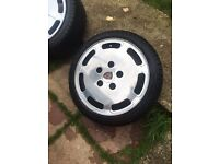 Porsche Slots 928 alloy wheels 16 inch X3 with tyres