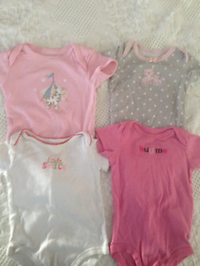 Girls 3 month onesies and shirts