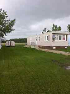 For rent in Beaverlodge, Alberta, two bedroom mobile home