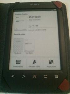Sony PRS-T2 eReader with Case