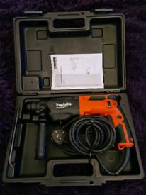 Makita 240v SDS + 3 Mode Rotary Hammer Drill 26mm × Drill set