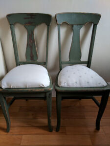 Vintage Dining Chairs - Set of 2