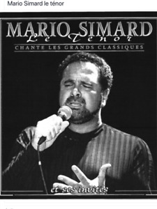SINGING COURSE GIVEN BY TENOR PROF.Mario Simard, 514-577-9505.