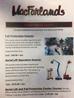 Fall protection and Aerial lift combo course