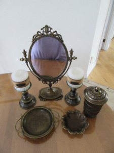 collection articles en laiton antique